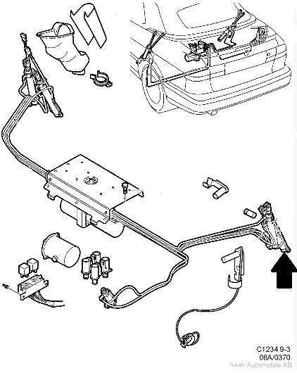verin hydraulique de capote pour saab 9 3 cabriolet  cote